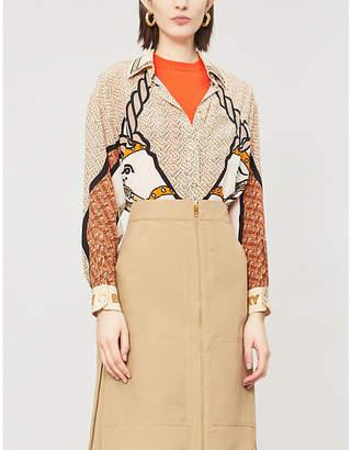 Burberry Unicorn-print silk shirt
