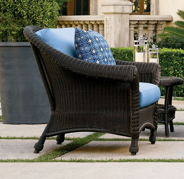 Sale alert restoration hardware outdoor sale popsugar home for Antigua wicker chaise
