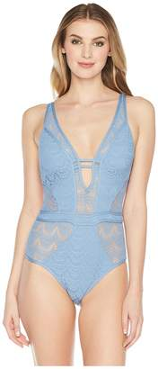 Becca by Rebecca Virtue Color Play Plunge One-Piece Women's Swimsuits One Piece