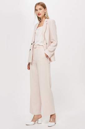 Topshop Blush Slouch Suit Trousers