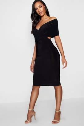 boohoo Tall Bardot Mini Dress