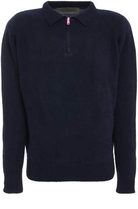 The Elder Statesman Exclusive Cashmere Heavy Collared Zip Up