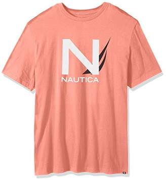 Nautica Men's Big and Tall Short Sleeve Crew Neck Cotton T-Shirt