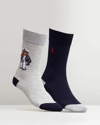 Polo Ralph Lauren 2-Pack Sea Captain Bear Socks