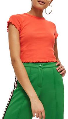 Topshop Lettuce Plain T-Shirt