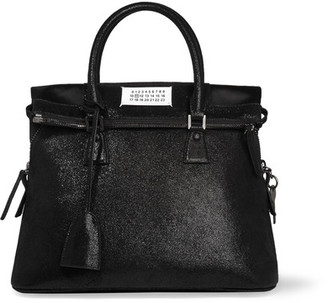Maison Margiela - 5ac Medium Glittered Leather Tote - Black $2,875 thestylecure.com