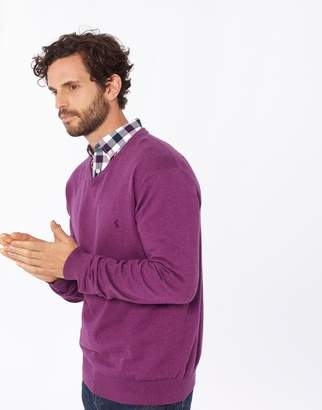Joules Clothing Purple Marl Retford V Neck Jumper