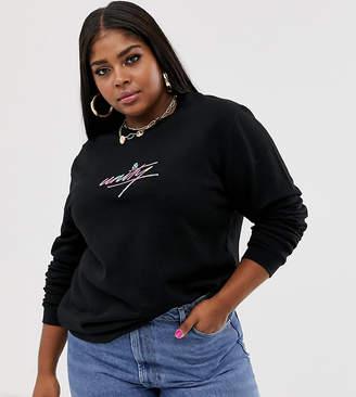 Asos DESIGN x glaad& Curve oversized sweatshirt with embroidery