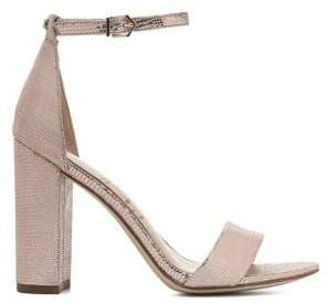 Sam Edelman Yaro Metallic Leather Block Heel Sandals