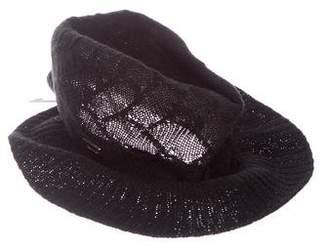 Calvin Klein Collection Knit Felt Hat