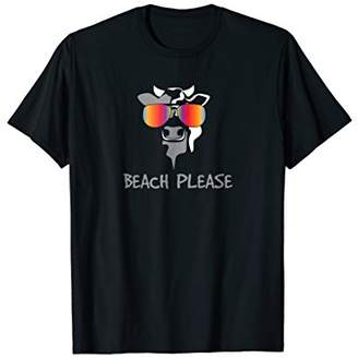 Beach Please Cow With Sunglasses Shirt