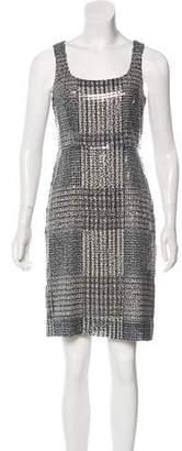 Tory Burch Sequin Sleeveless Mini Dress