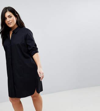 Asos DESIGN Curve cotton mini shirt dress