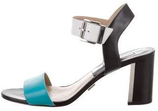 Michael Kors Leather Colorblock Sandals