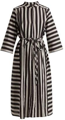 Ace&Jig Casey Striped Cotton Midi Dress - Womens - Black White