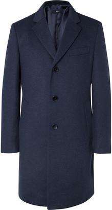 HUGO BOSS Wool and Cashmere-Blend Coat - Men - Blue