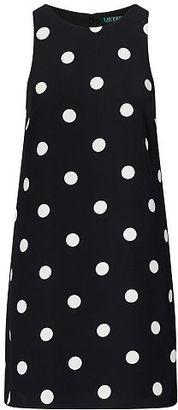 Ralph Lauren Crepe A-Line Dress $155 thestylecure.com