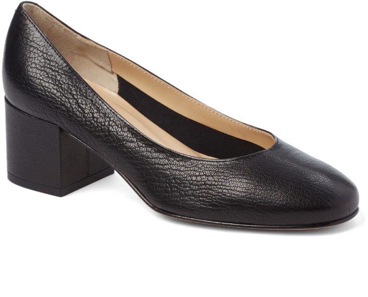 Amalfi By Rangoni Black Torino Leather Pump