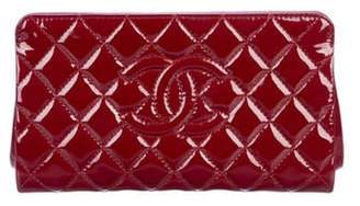 Chanel Patent Leather Timeless Clutch silver Patent Leather Timeless Clutch