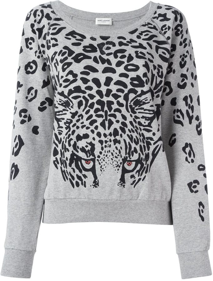 Saint Laurent leopard print sweatshirt