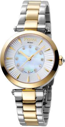 Ferré Milano Women's 32mm Stainless Steel 3-Hand Watch with Bracelet, Golden/Steel