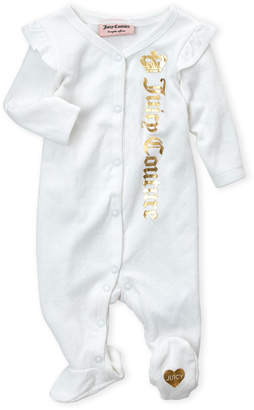 Juicy Couture Newborn Girls) Pointelle Heart Footie