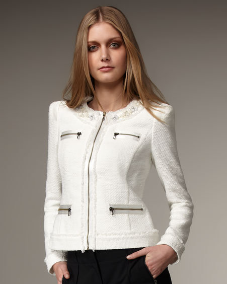 Magaschoni Fringe Boucle Jacket