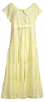 Innika Choo Women's Alotta Gud Tiered Tie Front Maxi Dress