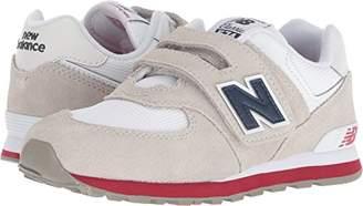 New Balance Boys' 574v1 Essential Hook and Loop Sneaker