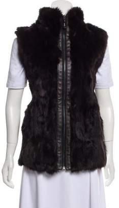 Belle Fare Fur-Accented Wool Vest