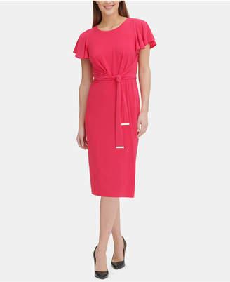 Tommy Hilfiger Flutter-Sleeve A-Line Dress
