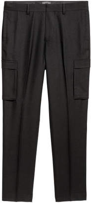H&M Suit Pants Slim fit - Black