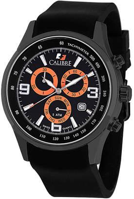 DAY Birger et Mikkelsen Calibre 42mm Men's Mauler Chronograph Watch, Black/Orange