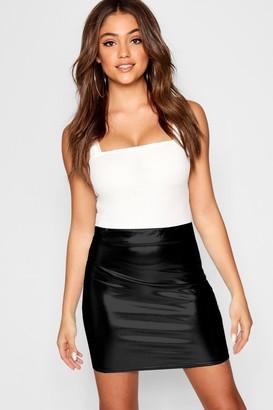 boohoo Bright Metallic Foil Mini Skirt