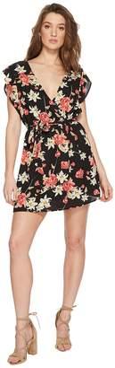 BB Dakota Shakira Printed Ruffle Sleeve Dress Women's Dress