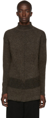 Rick Owens Brown Fisherman Turtleneck