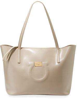 4d436c5f33 Salvatore Ferragamo Gancio City Large Leather Tote Bag