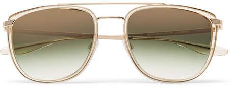 Barton Perreira Lafayette Aviator-Style Acetate and Gold-Tone Sunglasses