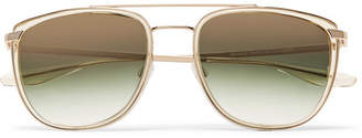 Barton Perreira Lafayette Aviator-Style Acetate and Gold-Tone Sunglasses