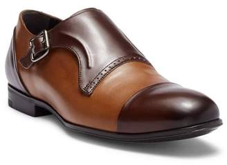 Bacco Bucci Pinelli Cap Toe Leather Monk Strap Loafer