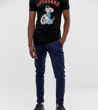 Blend Tall slim fit chino in navy