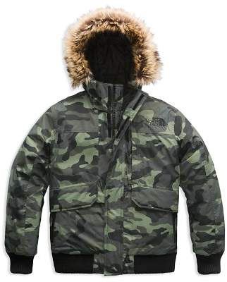 The North Face Boys' Camo-Print Gotham Down Jacket with Faux-Fur Trim - Little Kid, Big Kid