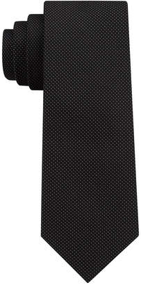 DKNY Men's Micro Dash Silk Slim Tie