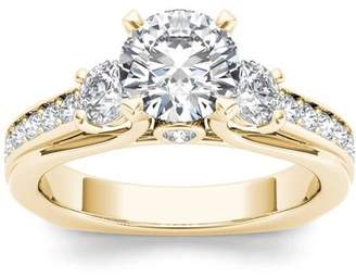 Imperial Diamond Imperial 2 Carat T.W. Diamond Three-Stone 14kt Yellow Gold Engagement Ring