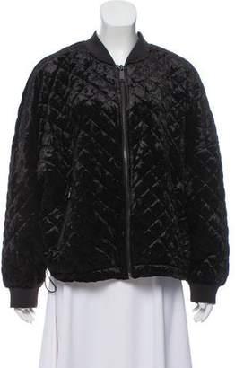 DKNY Velvet Bomber Jacket