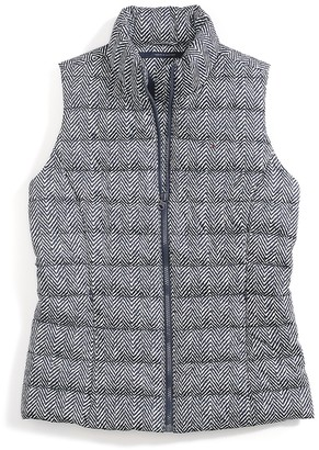 Final Sale- Printed Herringbone Vest $109.99 thestylecure.com