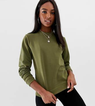Asos Tall DESIGN Tall ultimate sweatshirt in khaki