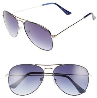 Draper James 58mm Gradient Aviator Sunglasses