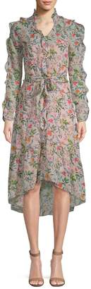 Julia Jordan Women's Floral Chiffon Wrap Dress