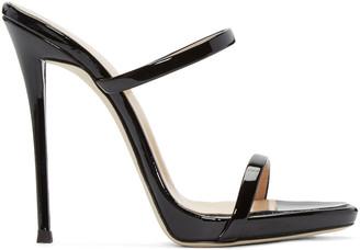 Giuseppe Zanotti Black Patent Leather Sandals $695 thestylecure.com